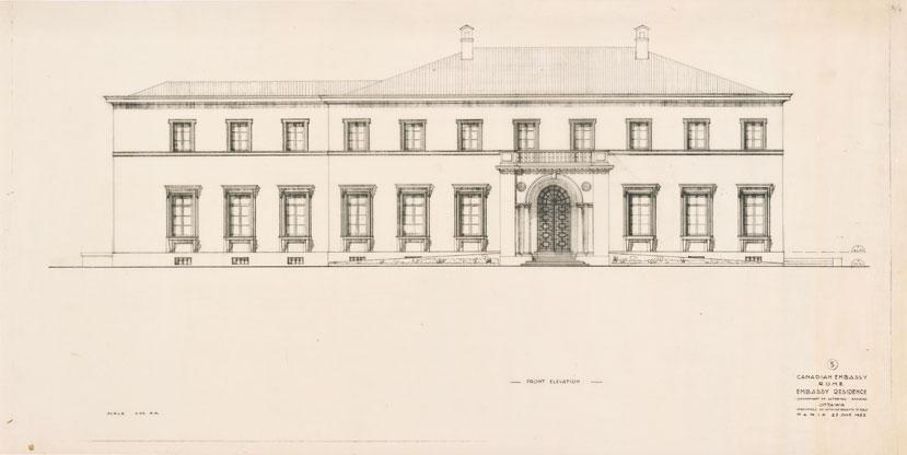 Ristrutturazione dell'Ambasciata canadese, Roma