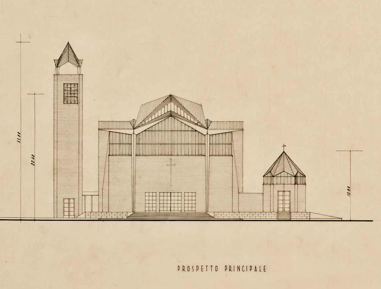 Progetto di concorso per la chiesa parrocchiale di S. Giovanni Bosco su via Marco Fulvio Nobiliore, Roma