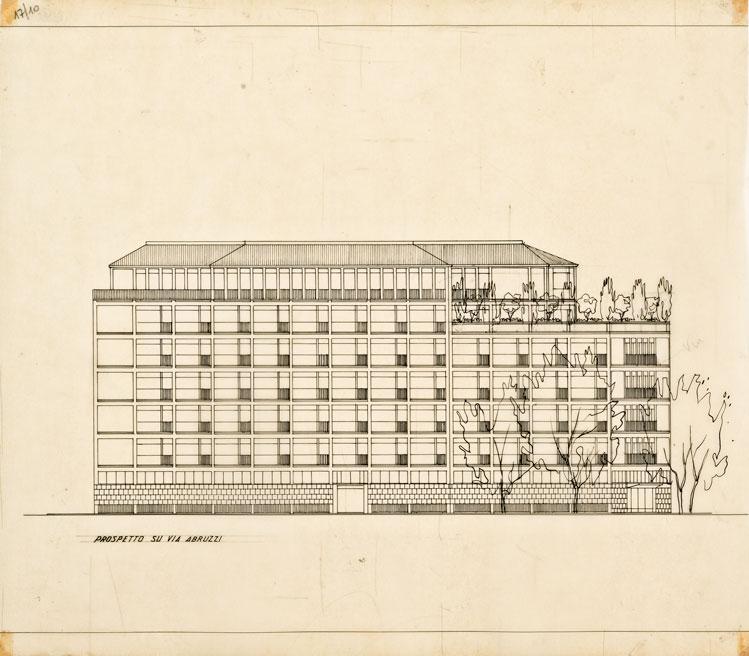 Edificio con albergo, abitazioni e studi professionali in via Sardegna - via Abruzzi - via Campania, Roma