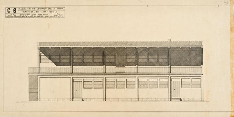 Centro sociale e portinerie a Pessina, Cagliari