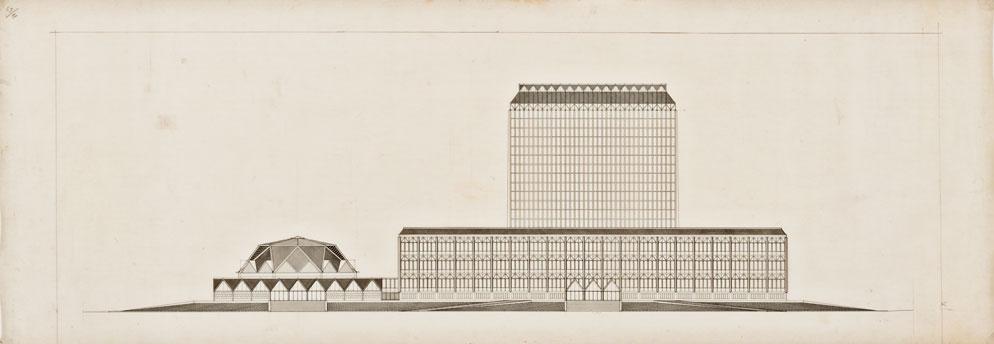Progetto di concorso per la Biblioteca Nazionale di Roma