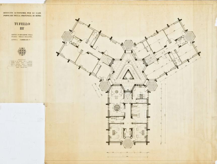 Edifici residenziali sulla piazza degli Euganei al Tufello III, Roma