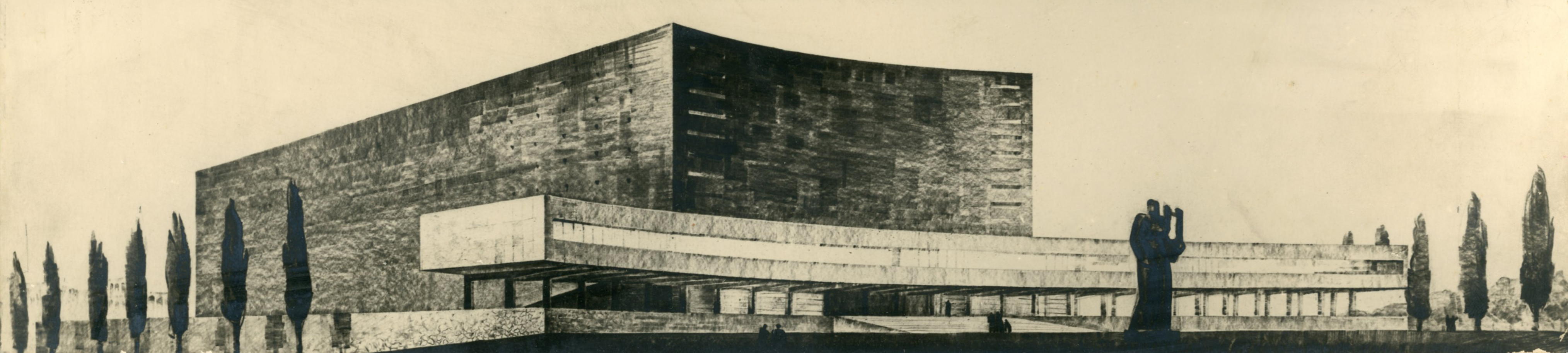 Progetto di concorso per un auditorium presso viale Aventino, Roma