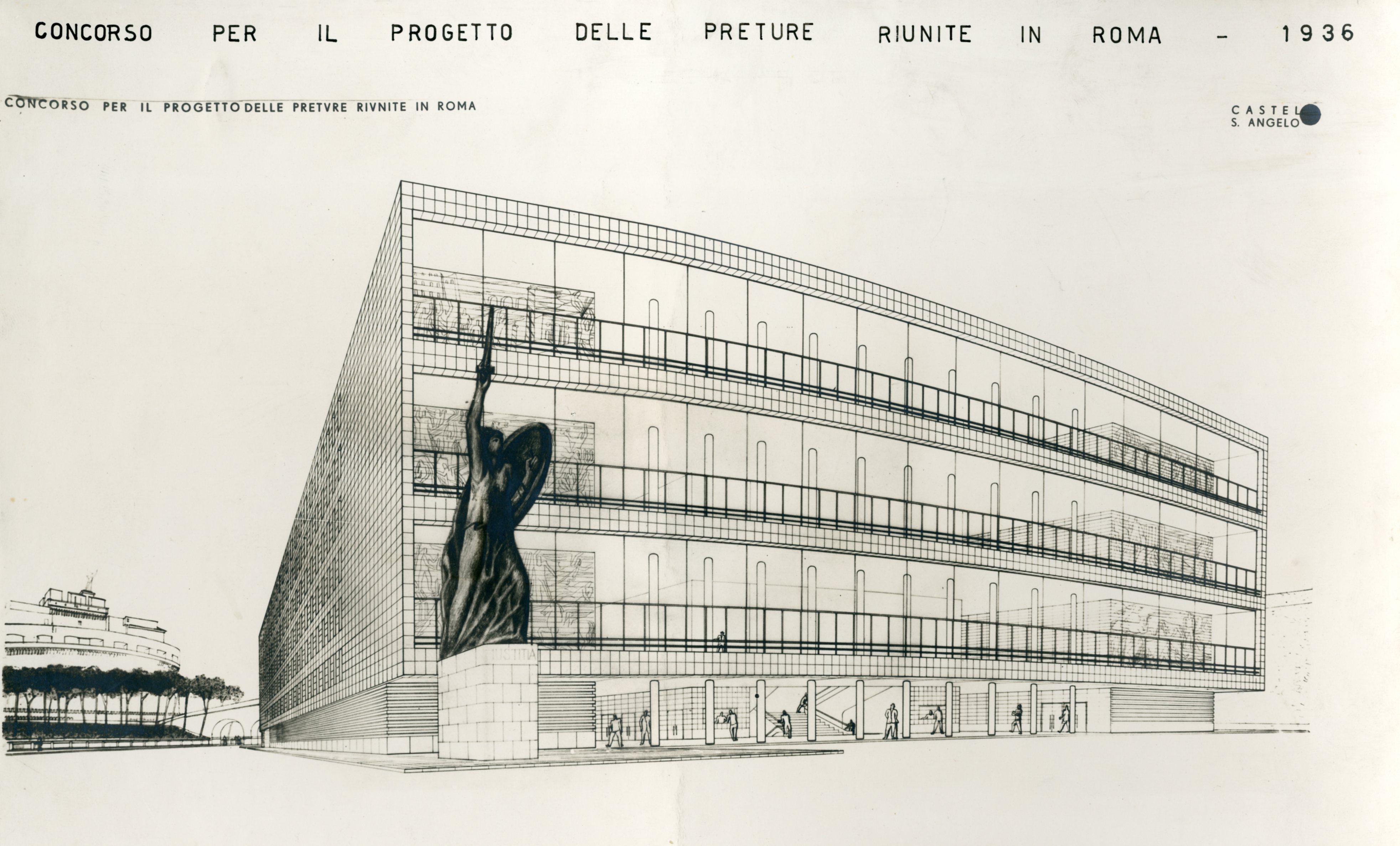 Progetto di concorso per la sede della Pretura Unificata, Roma