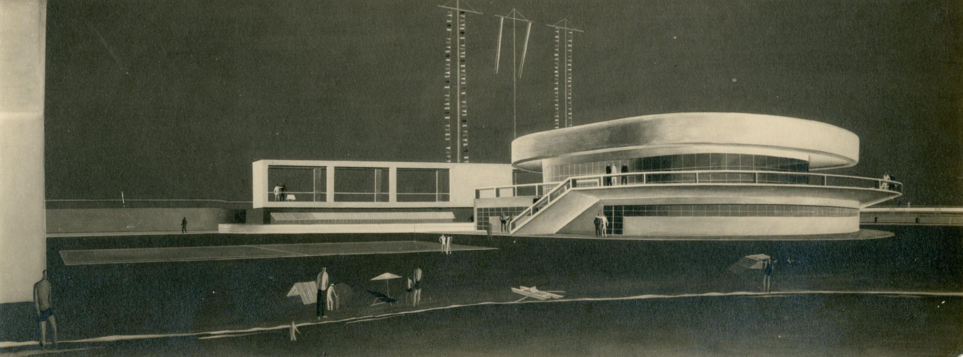 Progetto di stabilimento balneare al Lido di Ostia, Roma
