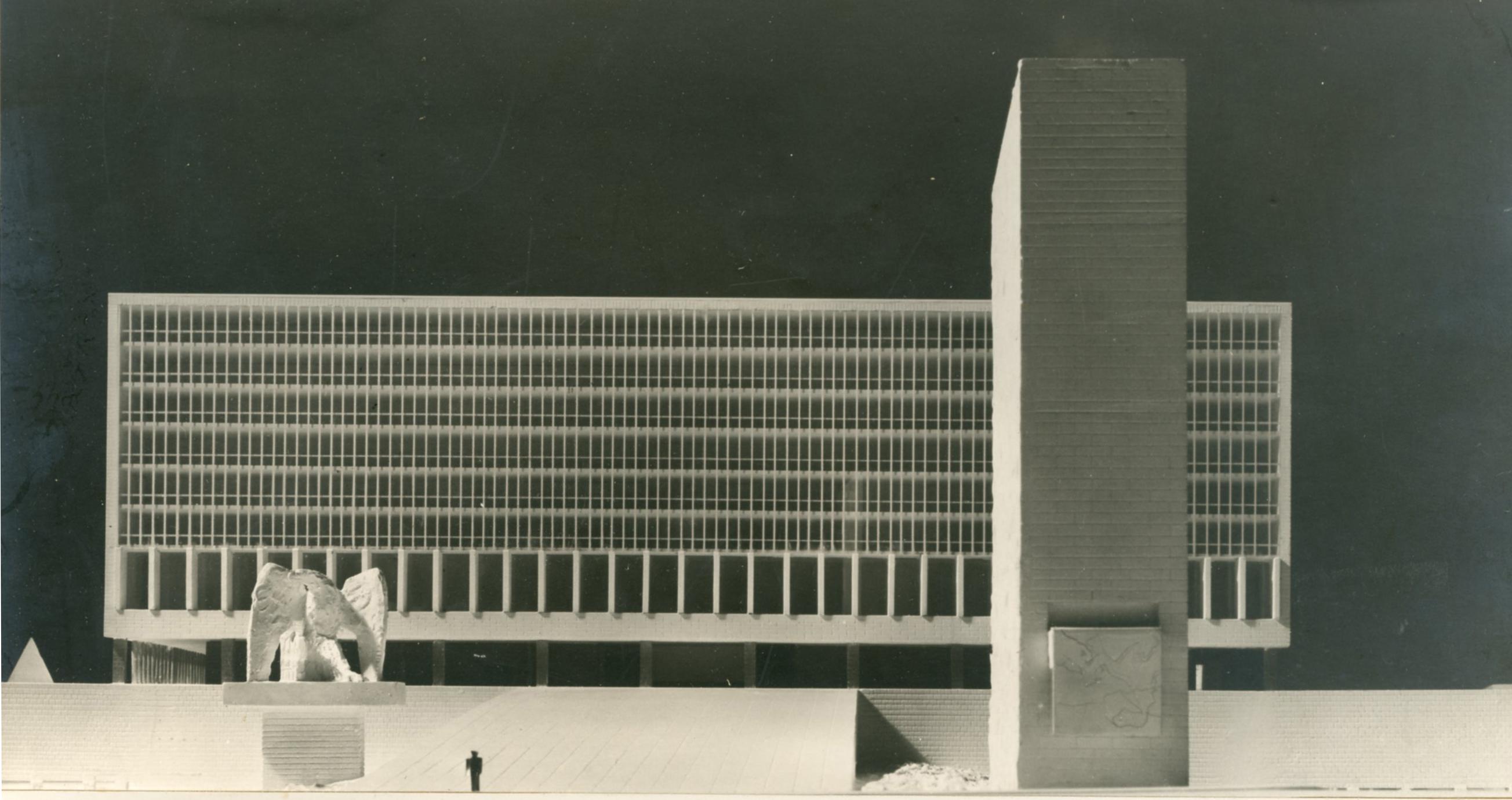 Progetto di concorso (secondo grado) per il palazzo del Littorio nel quartiere Aventino, Roma