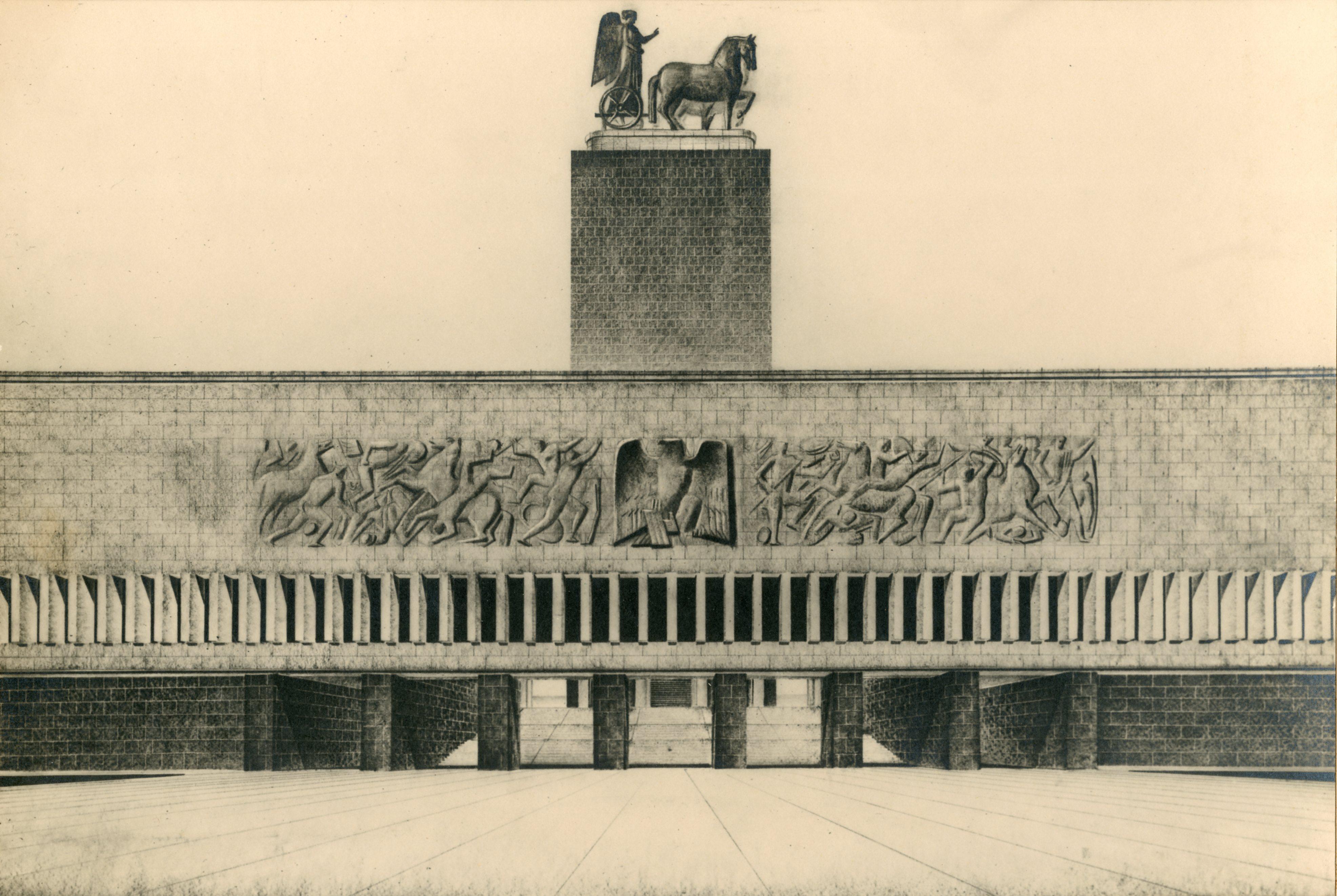 Progetto per la piazza e gli edifici delle Forze Armate all'E.42, Roma