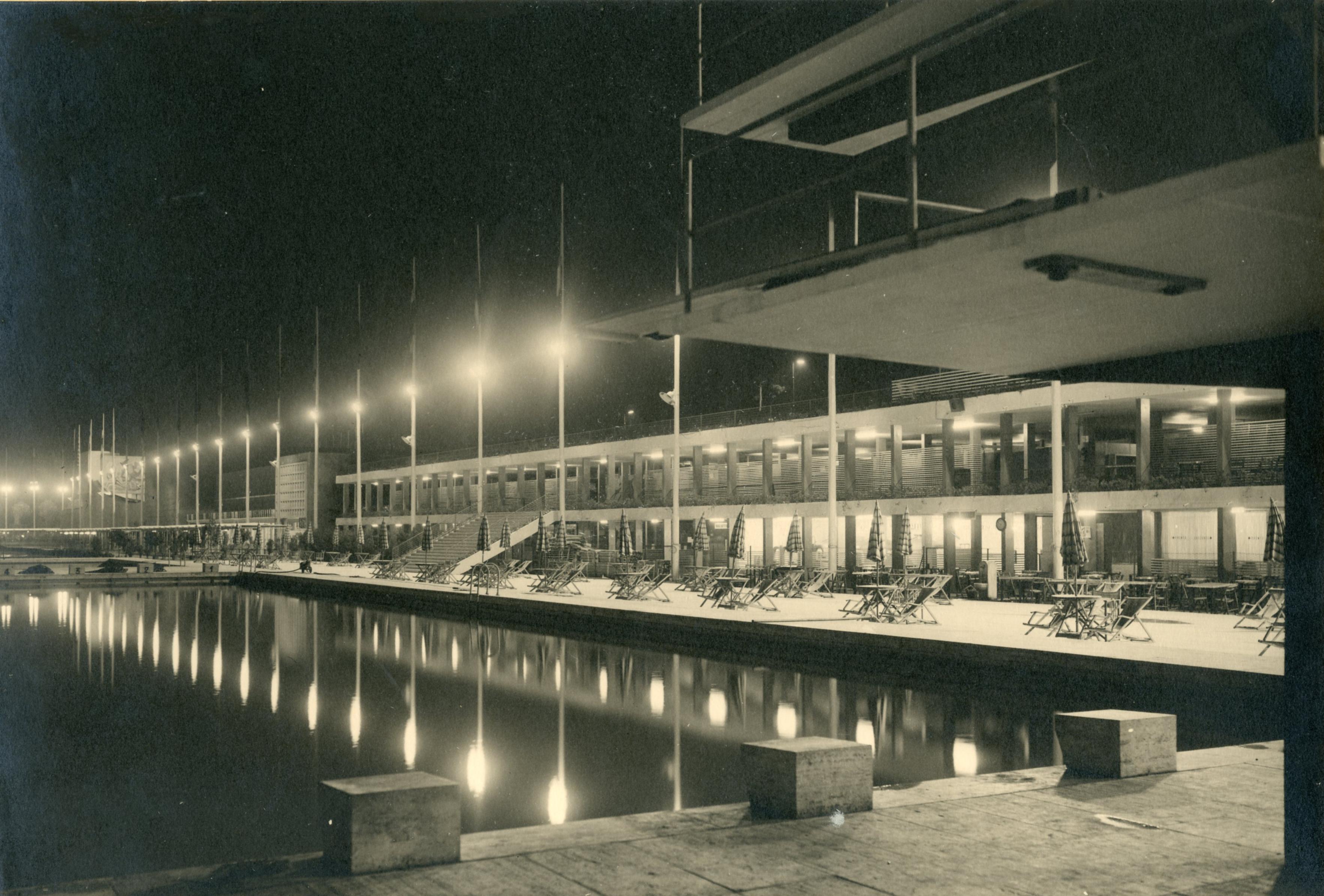 Villaggio balneare (piscine e cinema-teatro) al Circo Massimo, Roma