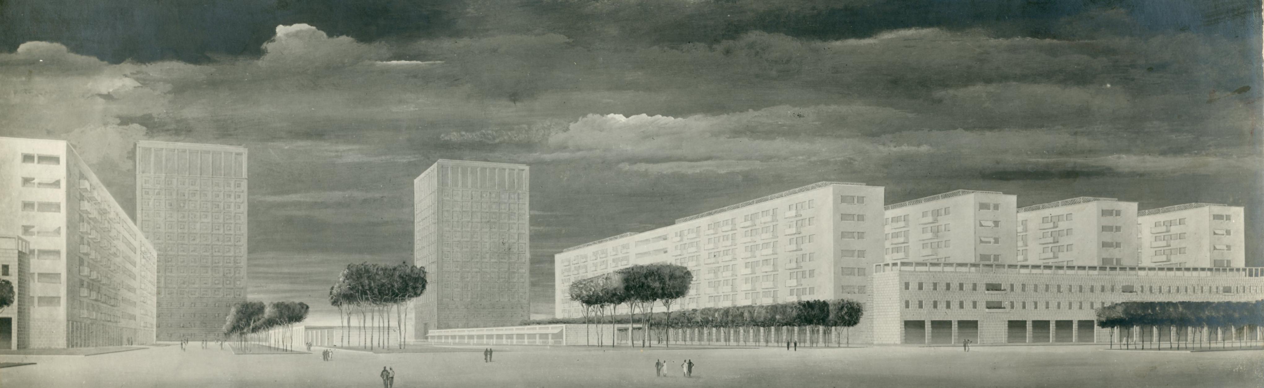 Progetto di lottizzazione per tipi di case d'abitazione sulla via Imperiale, Roma