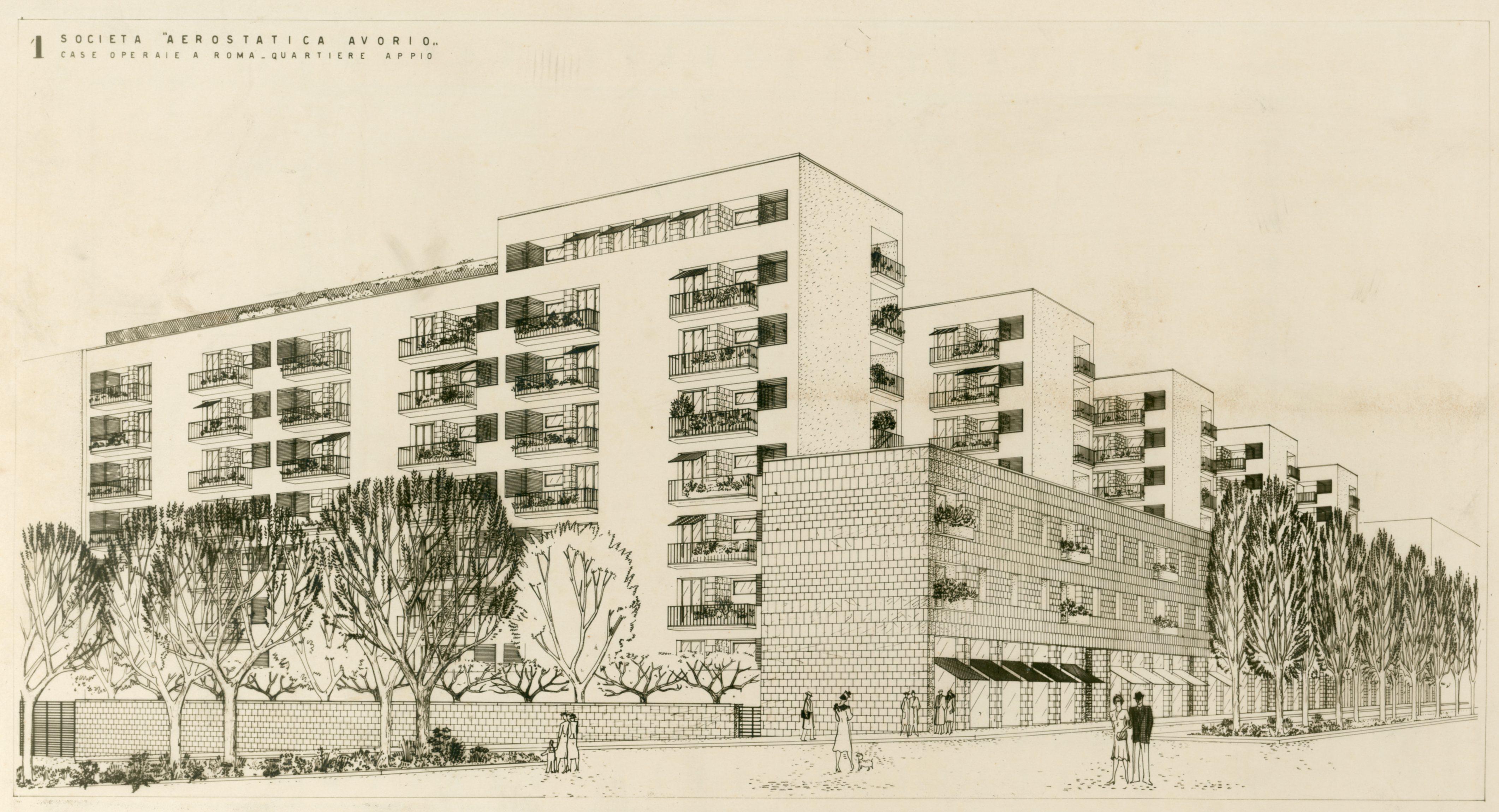 Progetto di case operaie nel quartiere S. Giovanni, Roma