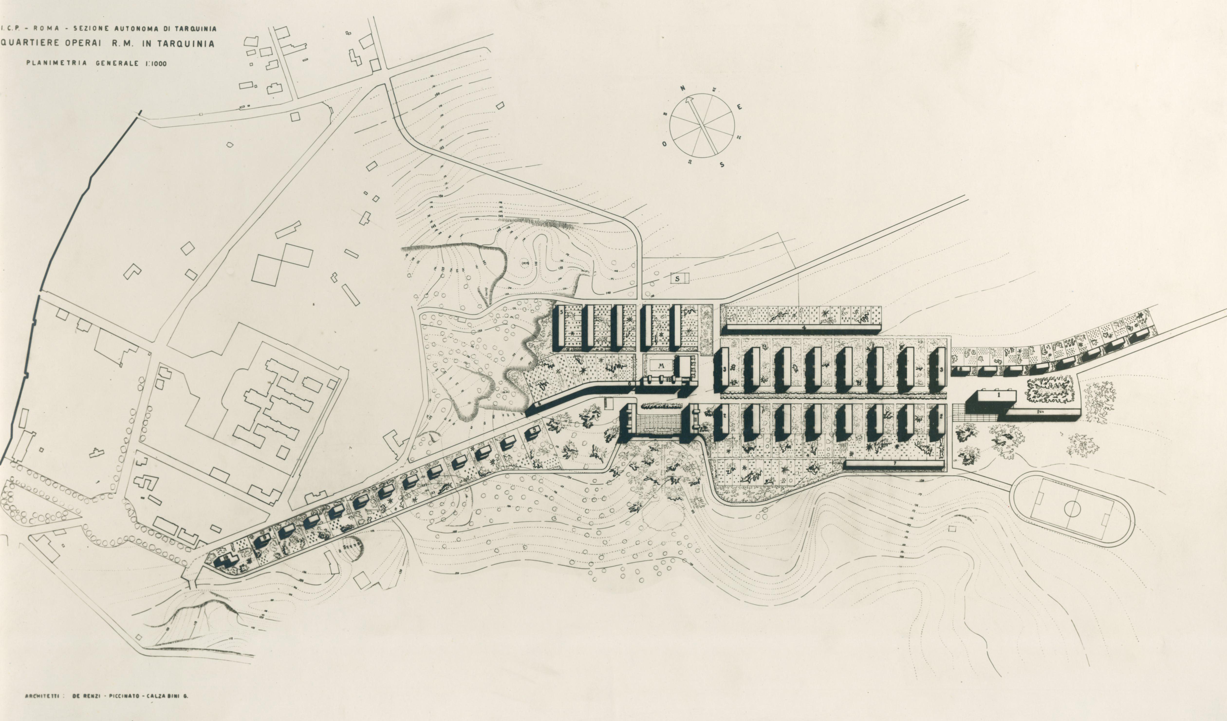 Progetto di villaggio operaio Regina Martina, Tarquinia
