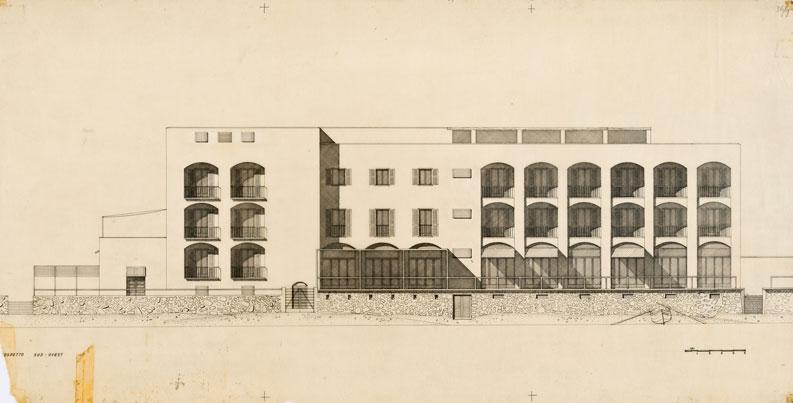Ricostruzione e ampliamento dell'albergo-pensione Amyclae, Sperlonga