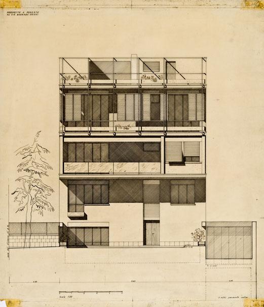 Progetto di casa a ville sovrapposte in via Barnaba Oriani, Roma