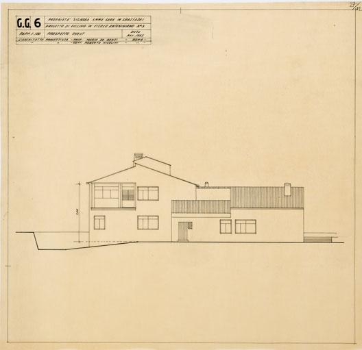 Progetto di casetta a un piano in vicolo Antoniniano, Roma