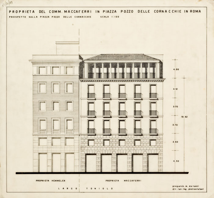 Palazzo per uffici in largo Toniolo, Roma